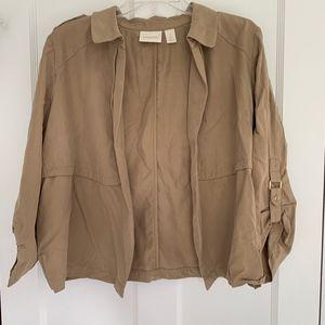 Chico's Tan Lyocell Safari Jacket Size 2